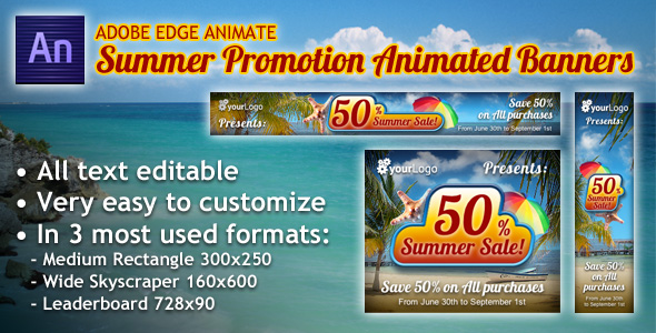 Summer Promotion HTML5 Animated Banners