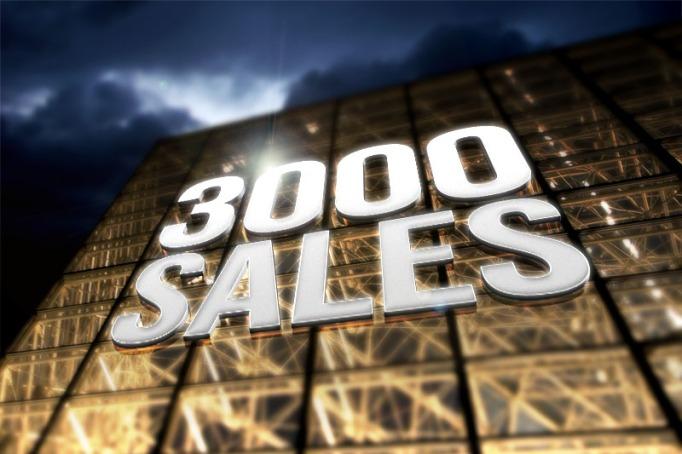 3000 sales