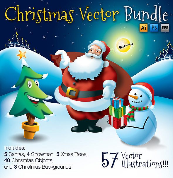Christmas Vector Bundle