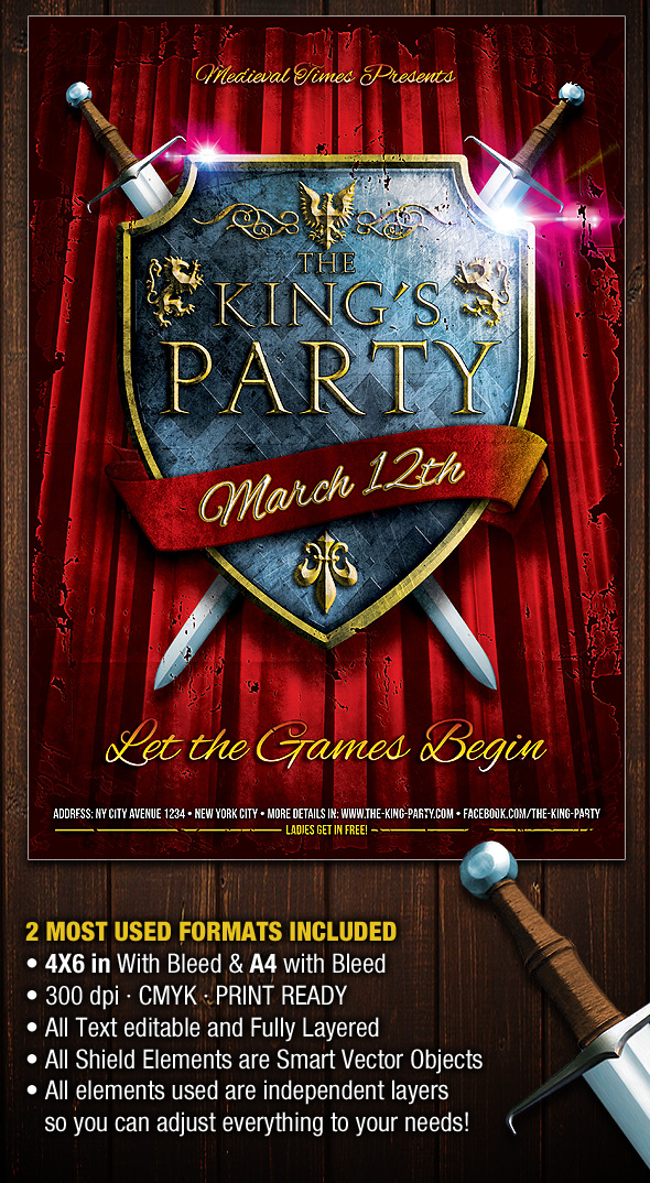 The-King-Party-Flyer