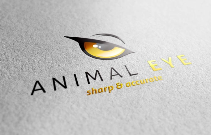 Animal Eye Logo 3D preview